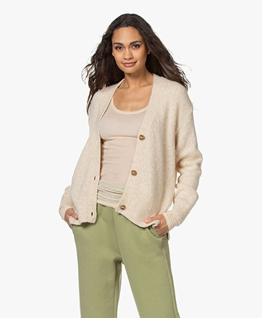 Closed Alpaca Blend V-neck Cardigan - Cashew Nut