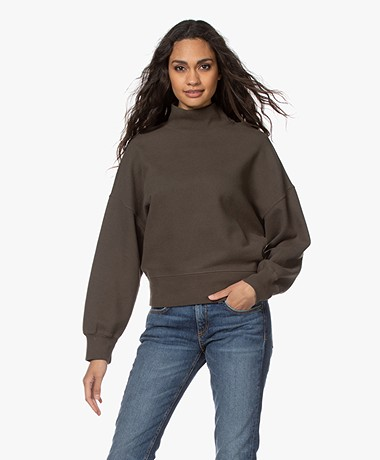 Rails Blaire French Terry Turtleneck Sweater - Olive