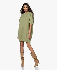 American Vintage Ikatown French Terry Sweaterjurk - Olive Grove