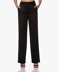 ba&sh Amie Satin Pants - Black