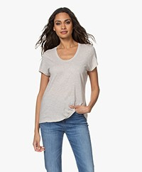 American Vintage Jacksonville Ronde Hals T-shirt - Cream