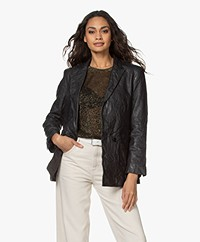 Zadig & Voltaire Visko Lambs Leather Blazer - Black