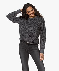 Rails Marcie Mini Cheetah Sweater met Pofmouwen - Charcoal