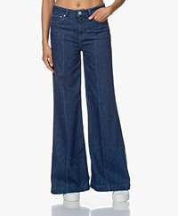 Closed Glow-Up Flared Stretch Jeans - Donkerblauw