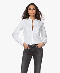 Closed Mette Cotton Poplin Shirt - White