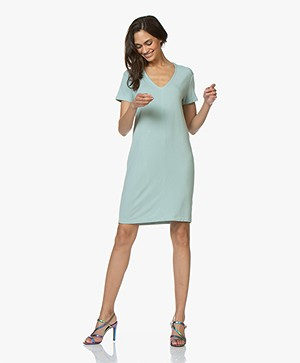 Majestic Filatures French Terry Tunic Dress - Jade