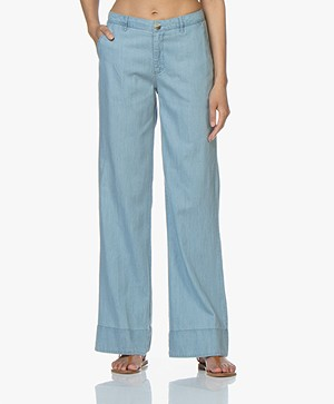 BY-BAR Nomi Chambray Broek - Light Denim