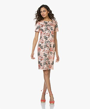 Kyra & Ko Juul Dress with Print - Peach