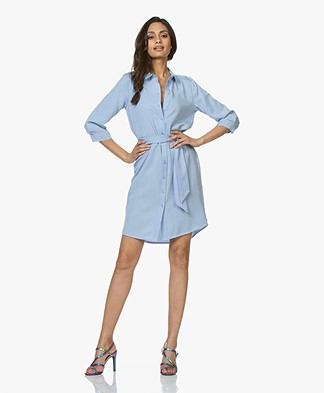 Josephine & Co Clinton Tencel Shirt Dress - Light Blue