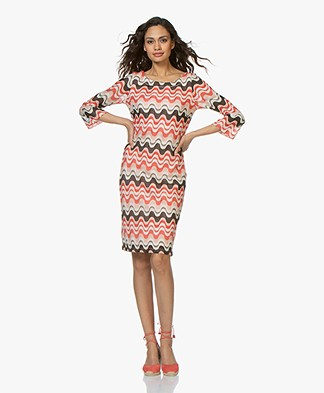 Kyra & Ko Jodie Intarsia Dress - Coral