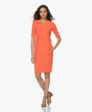 Kyra & Ko Alexis Crepe Jersey Dress - Coral
