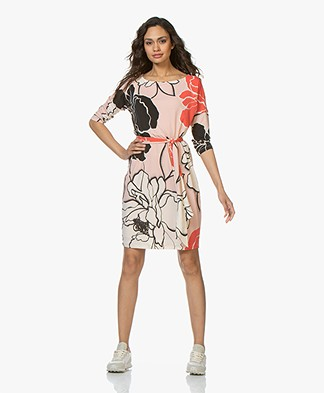 Kyra & Ko Evana Floral Print Dress - Peach