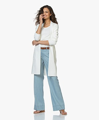 Kyra & Ko Annelot Mid-length Open Cardigan - Off-white
