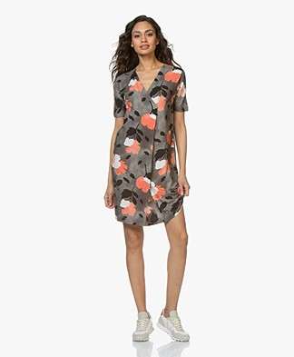 Kyra & Ko Skye Jersey Print Dress - Grey