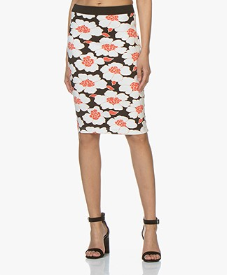 Kyra & Ko Yfke Scuba Jersey Pencil Skirt - Black