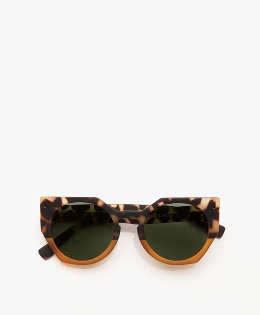 Matt & Nat Mule Geometric Sunglasses - Leopard Mix