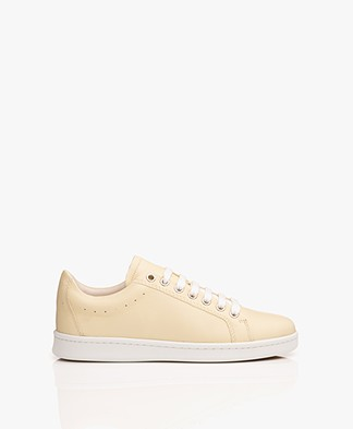 Filippa K Alice Leather Sneakers - Vanilla