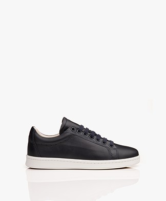 Filippa K Alice Leather Sneakers - Dark Blue
