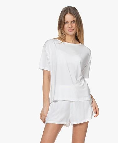 Calvin Klein Modal Jersey Korte Mouwen Pyjamatop - Wit
