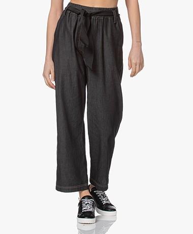 LaSalle Denim Look Pull-on Pants - Off-black