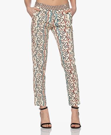 MKT Studio Pandor Stretch Cotton Printed Pants - Vanille