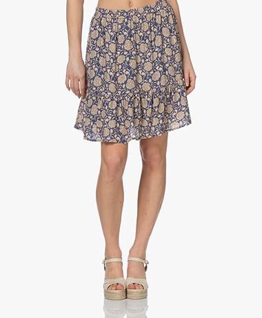 by-bar Charlie Bombay Print Skirt - Blue