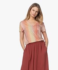 Repeat Linen Ombre Print T-shirt - Stripes