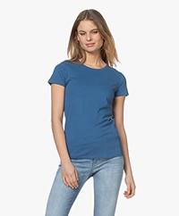 Majestic Filatures Jamie Deluxe Katoenen T-shirt - River Blue