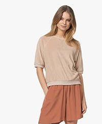 by-bar Neva Slub French Terry Sweater - Nude