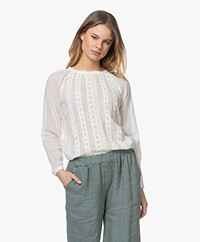 by-bar Angie Katoenen Voile Blouse - Off-white