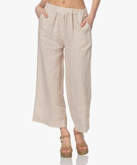 by-bar Ines Linnen Loose-fit Broek - Zand