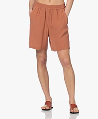 by-bar Kiki Crepe Bermuda Shorts - Copper