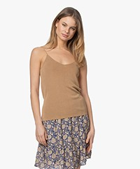 Josephine & Co Lisa Knitted Spaghetti Strap Top - Mocca