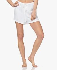 Calvin Klein Pajama Short with Stripes- White