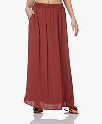 by-bar Emelie Viscose Crepe Maxi Skirt - Bright Plum