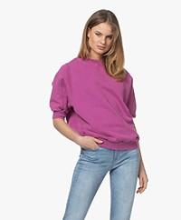 American Vintage Wititi Sweatshirt met Korte Mouwen - Vintage Anemone