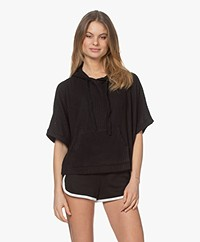 Calvin Klein Rib Knitted Hooded Sweater - Black