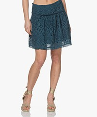 by-bar Bloom Broderie Anglaise Skirt - Oil Blue