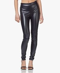 Wolford Estella Faux Leather Legging - Navy Opal