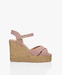 Castaner Blaudell 10,5cm Canvas Espadrille Wedge Sandals - Dusty Pink