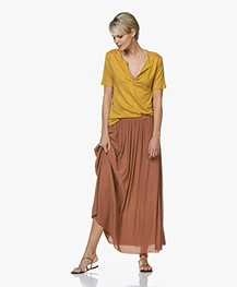 BY-BAR Linde Viscose-Crepe Maxi Skirt - Copper