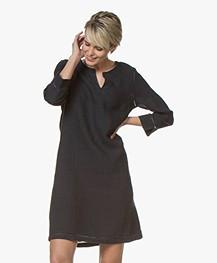 Belluna Voltaire Linen Dress - Navy
