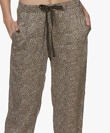 Plein Publique Le Levande Viscose Printed Pants - Panther