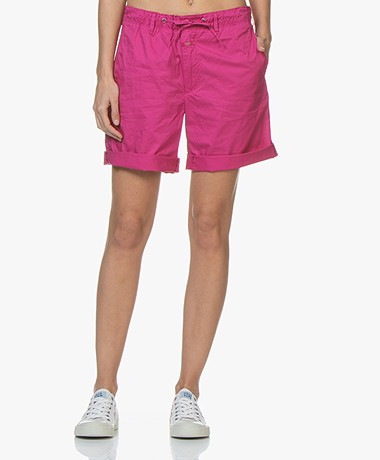 Closed Lya Poplin Shorts - Magenta