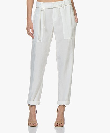 Drykorn Bad Loose-fit Lyocell Mix Broek - Off-white