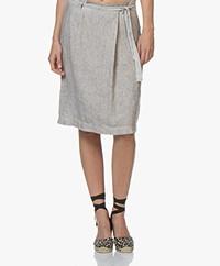 Belluna Weekly Pure Linen Skirt – Beige Melange
