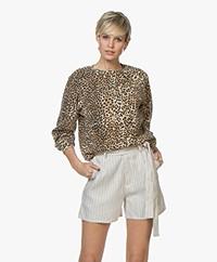 Ragdoll LA Distressed Luipaard Print Sweatshirt - Bruin