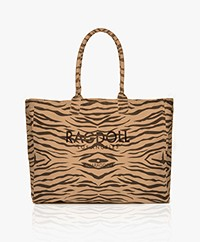 Ragdoll LA Holiday  Zebra Canvas Shopper - Brown
