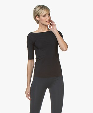 Filippa K Soft Sport Slim Mid sleeve T-shirt - Night Sky