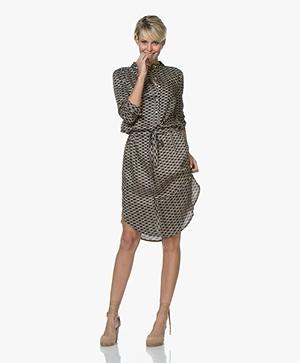 Plein Publique La Chemise Viscose Printed Shirt Dress - Cercles